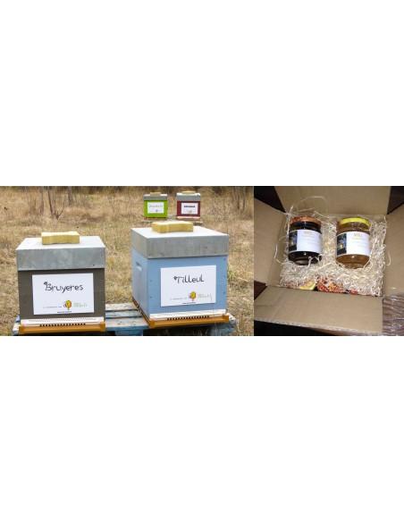 Parrainez une ruche et recevez pots personnalisés à votre nom